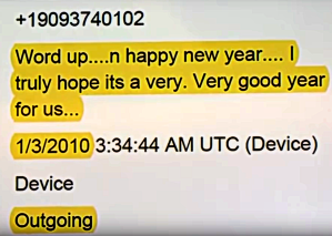 Joseph New Years text to ChasePM